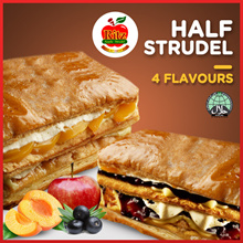 Half Strudel | 4 Flavours Apple Peach Blueberry Chocolate l Islandwide stores available to collect