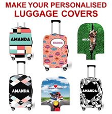 [ORTE] Exclusive ★ Personalized High Quality Elastic Luggage Cover Protector  ★ Print your NAME or ANY WORDINGS ★   NO MORE SEARCHING LUGGAGE ON BELT  ★ PROMO ON: Free Luggage Tags and Pouch