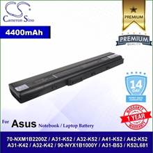 CameronSino Battery for Asus A31-K42 / A32-K42 / 90-NYX1B1000Y / A31-B53 Battery L-AUK52NB