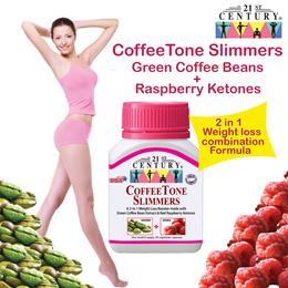 [21st Century] Coffeetone Slimmer 60s - Green Coffee Bean + Raspberry Ketones (2 in 1)