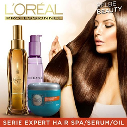 NEW LAUNCH / LOREAL PROFESSIONAL SERIE EXPERT HAIR SPA / SERUM / OIL