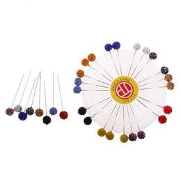 40 ROUND HEAD PEARL PIN WHEEL HIJAB PIN SCAR PIN ABAYA PINS TAILOR SEWING