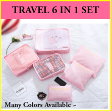 💖 Travel 6 in 1 Bundle Storage Set 💖 Bedsheet Shoes Clothings Cosmetic Baby Diaper Organizer Bags