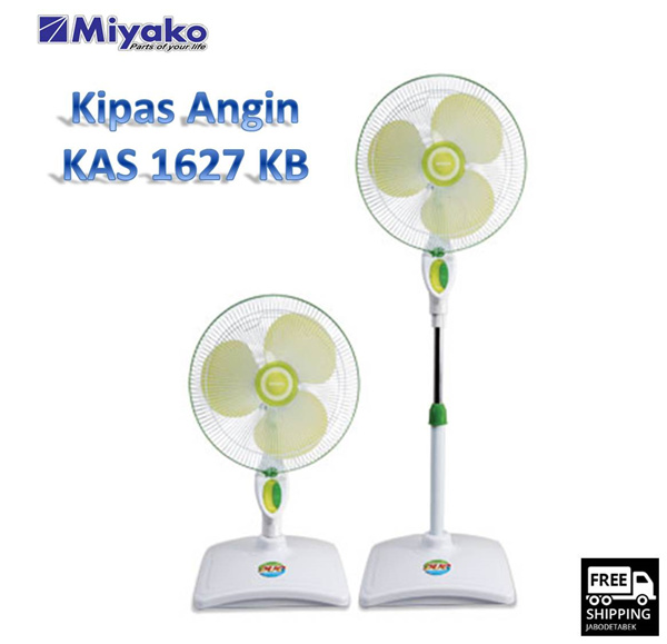 MIYAKO STAND FAN KAS 1627 KB Deals for only Rp399.000 instead of Rp399.000