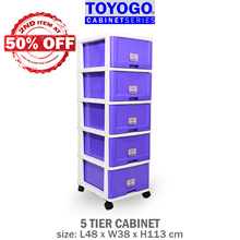 [903-5] TOYOGO - PLASTIC STORAGE CABINET/DRAWER WITH WHEELS (5 TIER)