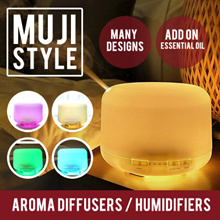 【MUJI Style】Aroma Diffuser / Humidifier / Anion / USB Air Purifier / Essential Oils