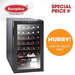 🔥Online Special🔥 EuropAce Wine Chiller / Cooler 33 Bottles - 5 Years Compressor Warranty