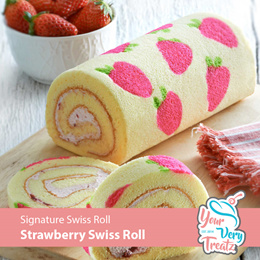 Signature Strawberry Swiss Roll