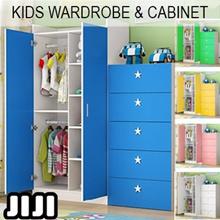 Kids Wardrobe Cabinet ★ Kids Cupboard ★ Children 2 Door Wardrobe ★ Drawers ★ Cabinets ★ Furniture