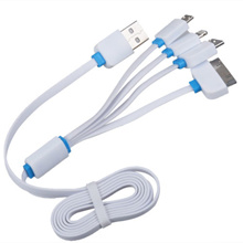 Hot Sals4in1Data SyncCharging USB Cable/ cables for iPhone 4/5/6 Samsung Galaxy Note Charger/phone c