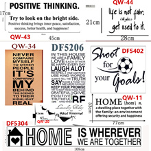 Quotes Words -wall sticker decal-local seller -baby room/Sofa background/Kitchen/1-2days delivery