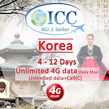 ◆ICC◆【Korea SIM Card·5-12 Days】❤Unlimited 4G/ Unlimited Data + Call* ❤ South Korea