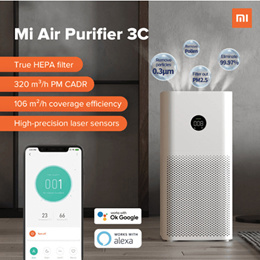 [Local Warranty] XIAOMI Air Purifier 3C // 3H // Pro | OLED Display  Air Circulation HEPA Filter