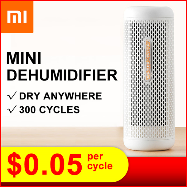 ?New Arrival?2019 Xiaomi Deerma Mini Portable Dehumidifier Home Air Dryer/humidity dry/ Rechargeable Deals for only S$49.9 instead of S$49.9