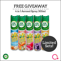[RB] 【10AM FREE - First 300 only】Airwick 4 In 1 Aerosol 300ml   Stocks from Singapore
