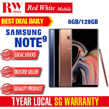 Samsung Note 9 128GB (Midnight Black/Ocean Blue/Metallic Copper) 1 Year Local Warranty