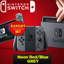 [In Stock]Nintendo Switch Console with Grey Joy-Con //  // Neon Red/Blue  (EXPORT)