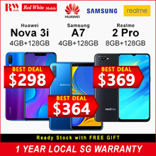 [Buy Today Collect Same Day] Huawei Nova 3i 128GB (Black/Purple) 2 Year Huawei Local Warranty