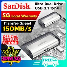 Sandisk Ultra Dual Drive Type C USB 3.1 150MB/s (5Yrs Wty)  128GB 256GB