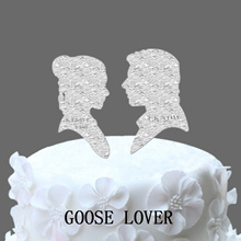 Funny Wedding Cake Topper Starwars Leia & Hans Solo  Custom Wedding Cake Topper  Mr And Mrs Wedding