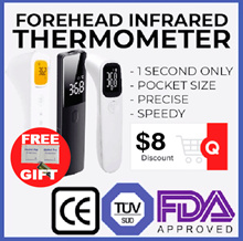 $8 Coupon OVER 1300 POSITIVE REVIEWS BIOLAND Thermometer non contact forehead high quality