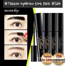 【Secret Key HQ Direct Operation】 Tatto eyebrow tint pack 8g 4 colors / Super Long Lasting!