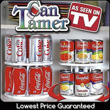 Can Tamer/ Spin Storage Shelf Rack/ Organize cupboard pantry counter top or fridge