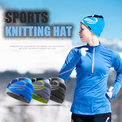 Winter Running Caps Men Women Outdoor Riding Exercise Sports Wool Hat  Europe And the United 96ae3530d54