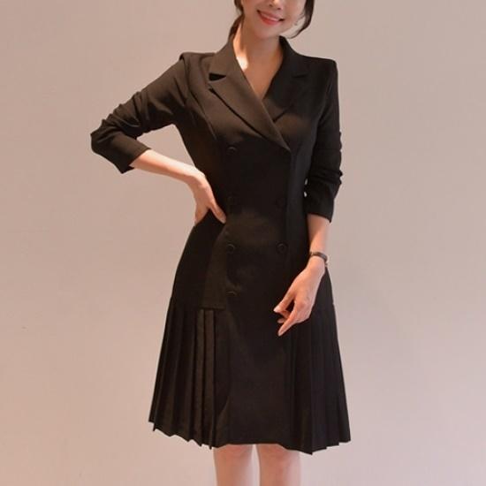 悪女日記】ルバン・プリーツワンピース5577 綿ワンピース/ 韓国ファッション