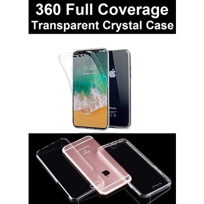 360 Full Coverage Transparent Crystal Clear Case