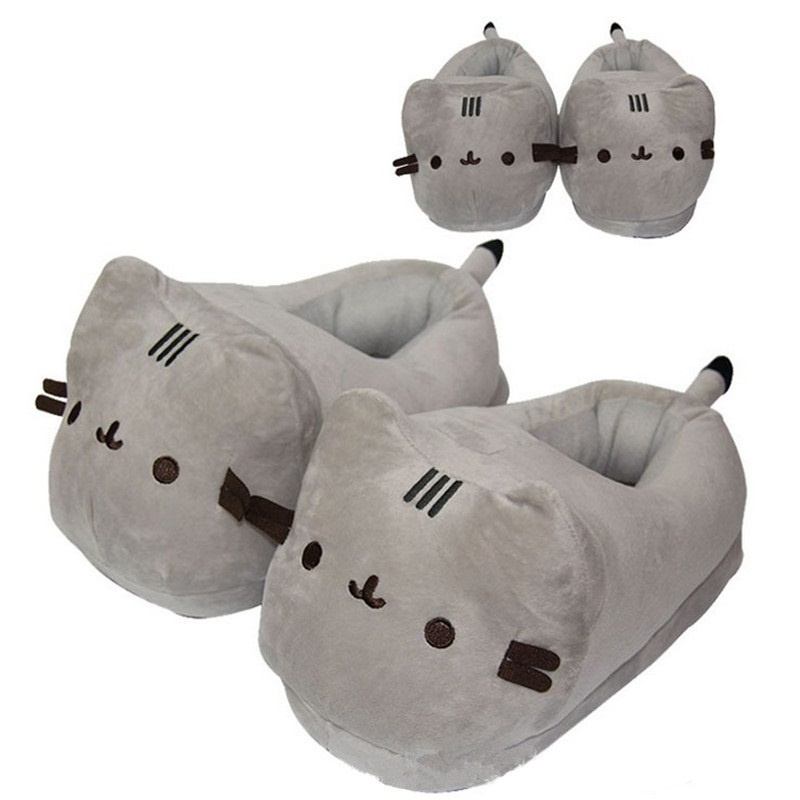 54be13b4ee0 fit to viewer. prev next. Soft Cat Plush Shoes Japanese Anime Kawaii Pusheen  Cat Slippers ...