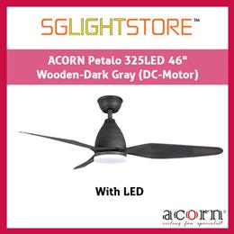 SgLightStore - Acorn Petalo DC325 - 46 Inch (Wooden Dark Grey)