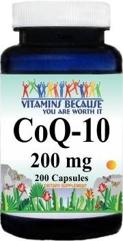 [USA]_Coenzyme Q-10 200mg 200 Capsules by Vitamins Because