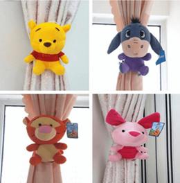 Curtain buckle / Winnie the Pooh cartoon plush curtain straps curtain clip childrens room decorative