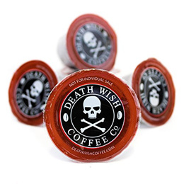 [DEATH WISH COFFEE CO.] Death Wish Single Serve Capsules for Keurig K-Cup Style Brewing Systems