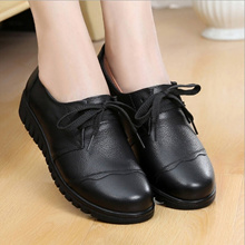 The strength of autumn and winter KFC work shoes women black shoes comfortable Rounded Toe Flats Non