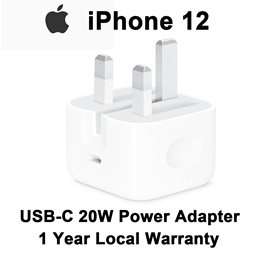 Apple 20W USB-C Power Adapter iphone 11 iphone 12 Charger (1 Year Local Warranty)
