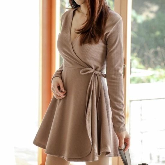 イランジ行き来するようにイランジセミルブイラップワンピース シフォン/レースのワンピース/ 韓国ファッション
