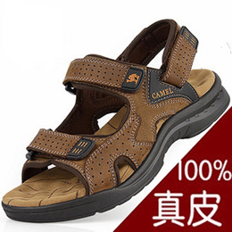 7743413ef63a COUPON · Men s Sandals 2017 new leather Sandals men-toe casual shoes shoes  men s shoes