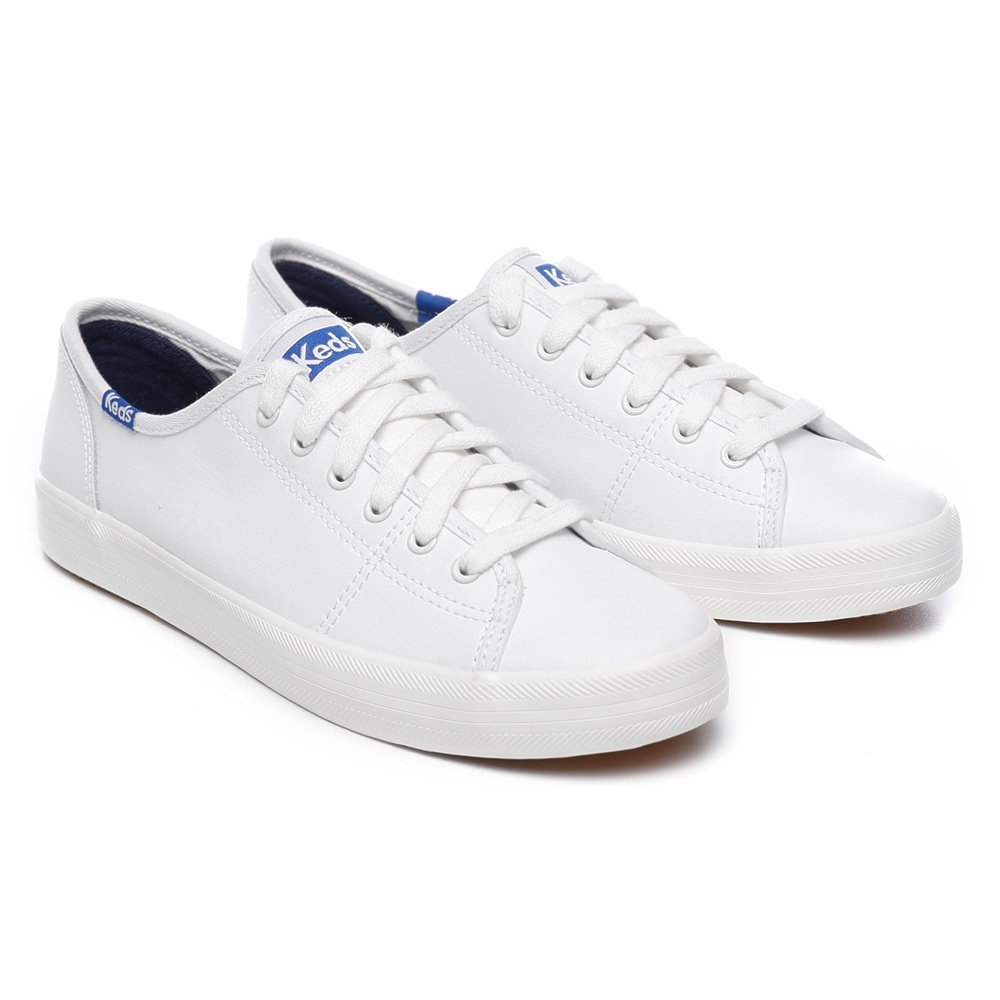 5849736cb309 Qoo10 -  Keds  KICKSTART RETRO COURT LEATHER (WH 57559) White   blue ...