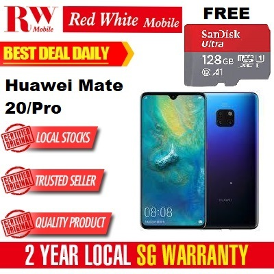 HuaweiHuawei Mate 20 / Pro ) Free Sandisk 128gb SD Card 2 Year Local Huawei  Warranty -
