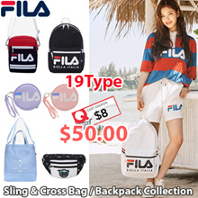 [FILA] ♥Use Qoo10 Coupon $8♥18FW NEW 19TYPE BAG COLLECTION / Sling Bag / Cross Bag / Eco Bag / Backpack