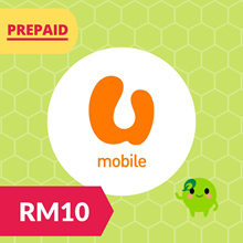 RM10 UMobile Prepaid Reload Top Up U Mobile RM30 RM50