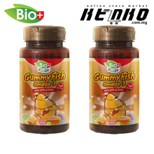 BIOPLUS Junior Gummy Fish Omega 3 with EPA DHA Twin Pack (80 gummies X 2)