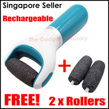 SG FREE SHIPPING★Rechargeable Electronic Foot File★FREE 1+2 Replacement Roller★USB Powered SG Seller