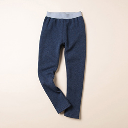 Children s thickening bottoming pants, winter clothes, new children s wear, pure color, and flannel