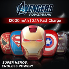 12000mAh Cartoon Avengers League of Legends Mobile Power Colorful Seven Color Light