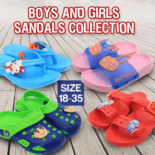 BOYS AND GIRLS SANDALS COLLECTION SIZE 18-35 Deals for only Rp60.000 instead of Rp60.000