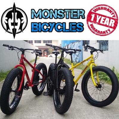 Qoo10 Monster The Spartan Fat Bike By Monster Bicycles Free