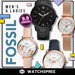 *APPLY SHOP COUPON* [NEW MODELS ADDED] FOSSIL New Arrivals 2019 Watches for Men and Ladies.